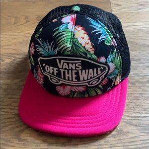 Vans black floral hat